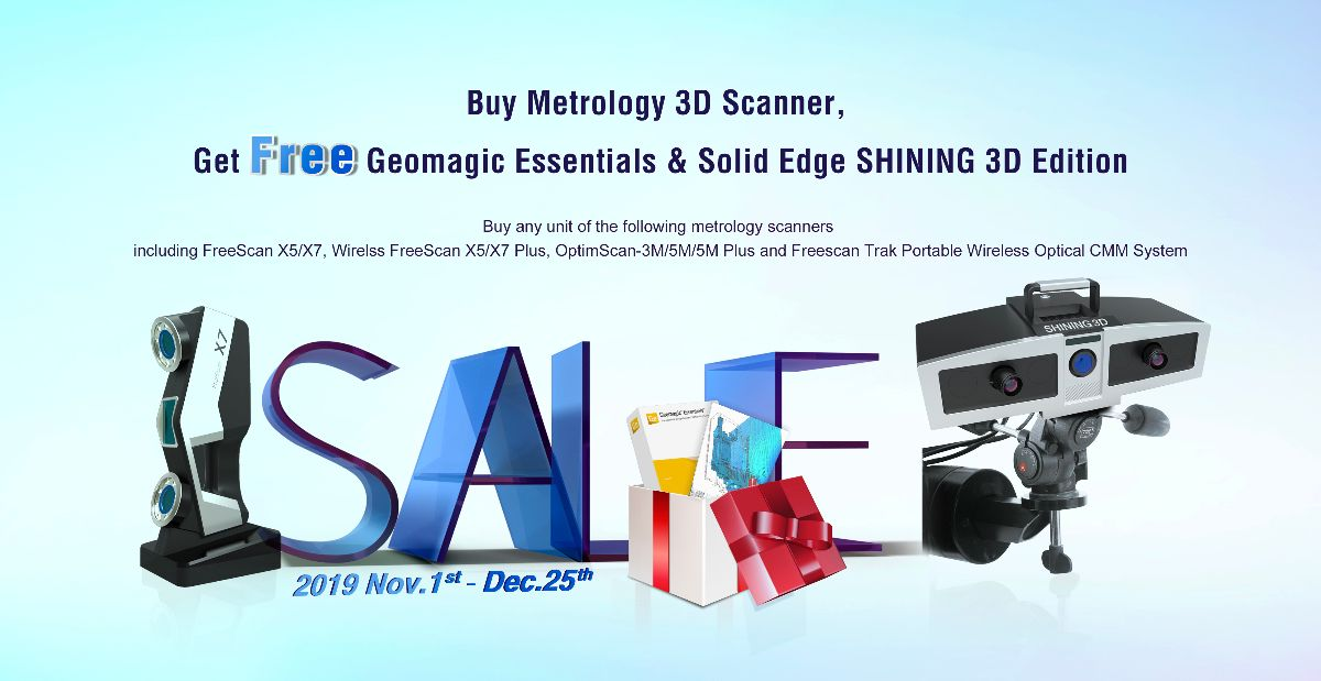 Big Sales for Metrology 3D scanner